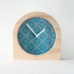 desk clock blue burst