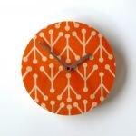 retro coral clock