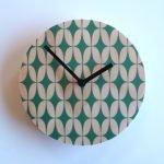 retro green star clock1